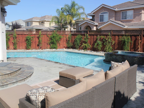 Pool deck and patio