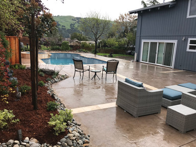 Planters and patio