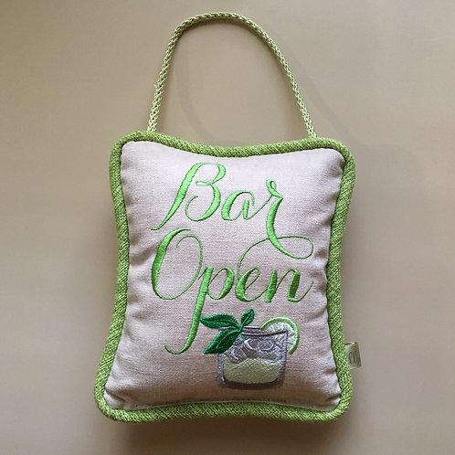 """""""Bar Open"""" Mojito Door Pillow"""