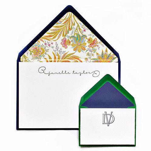 Sahara Letterpress Note