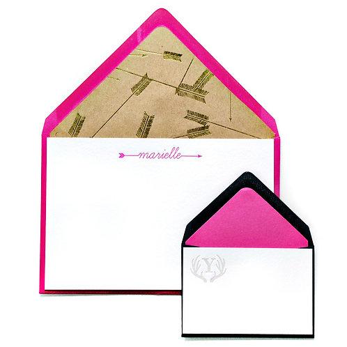 Cupid's Arrows Letterpress Note