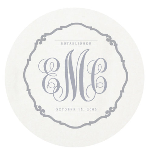 Traditional Monogram Coasters