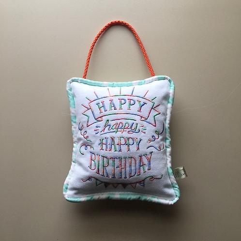 """""""Happy Birthday"""" Door Pillow (Pillow Talk)"""