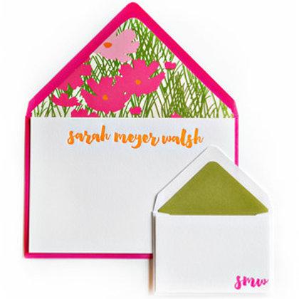 Belle Letterpress Note