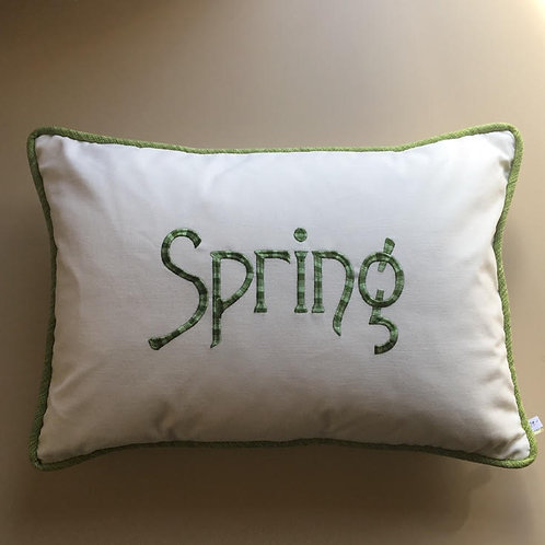 """Spring"" Ombre Throw Pillow"
