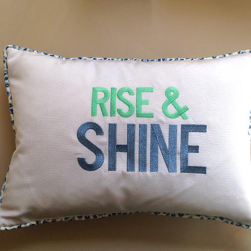 """Rise & Shine"" Throw Pillow (Pillow Talk)"