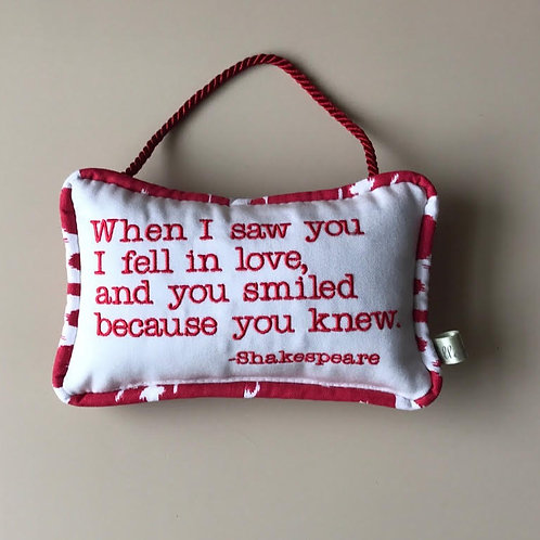 """Shakespeare"" Door Pillow"
