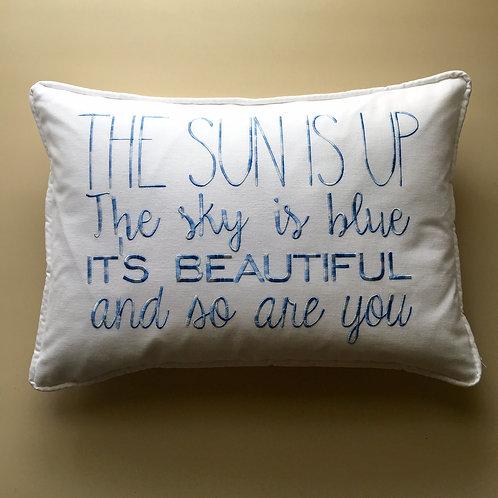 """""""The Sun Is Up"""" Throw Pillow (Pillow Talk)"""