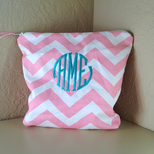Monogram Cosmetic Bag (Pillow Talk)