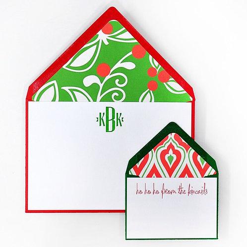 Mistletoe Letterpress Note