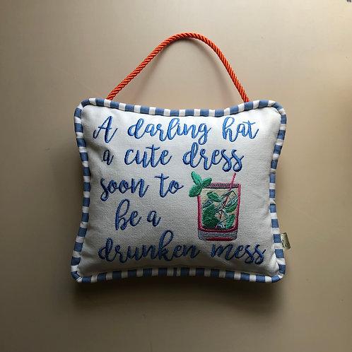 """""""A Darling Hat"""" Door Pillow"""