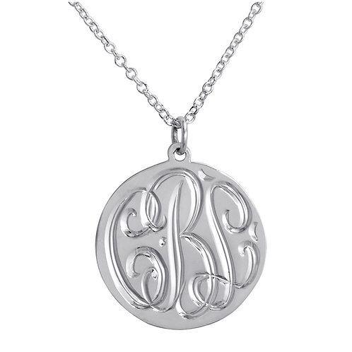 Sterling Silver Hand Engraved Pendant Necklace
