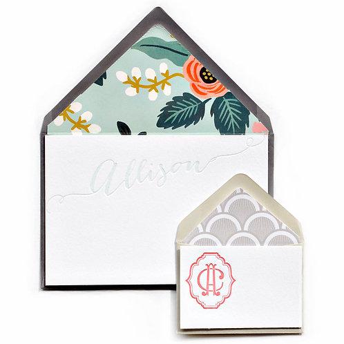 Rita Letterpress Note