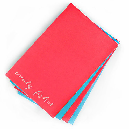 White on Bright Large Note Pad