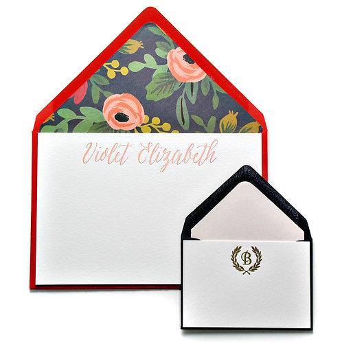 Rose Garden Letterpress Note