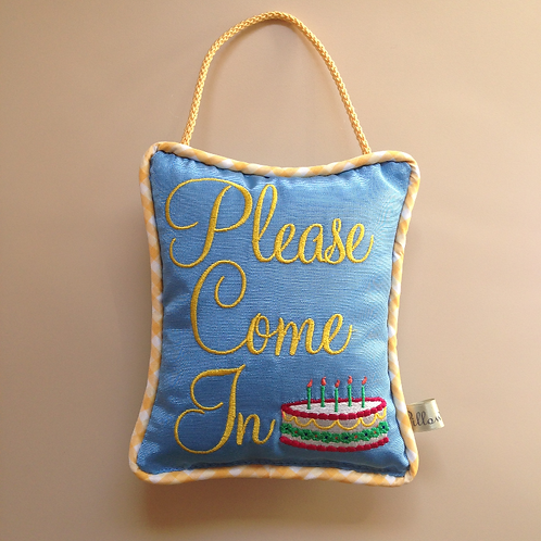 """Please Come In"" Birthday Pillow (Pillow Talk)"