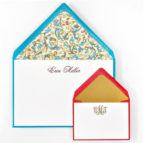 Scroll Letterpress Note