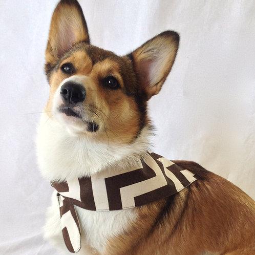 Monogram Dog Scarf (Pillow Talk)