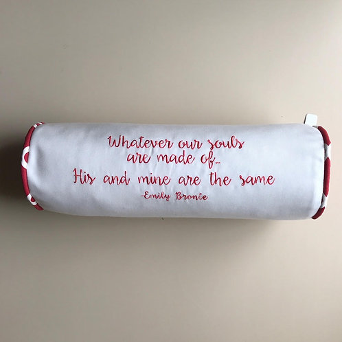 """Emily Bronte"" Quote Throw Pillow"