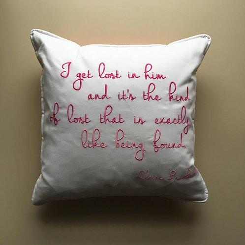 """Claire Lazebnik"" Quote Throw Pillow"