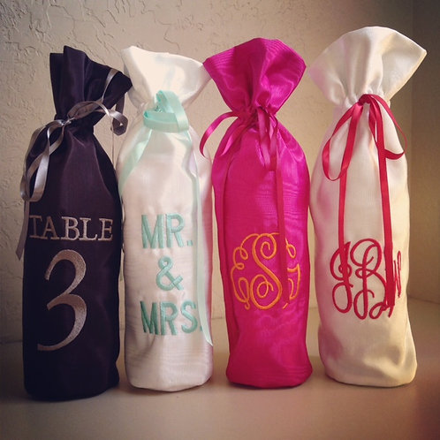 Monogram Wine Bags (Pillow Talk)