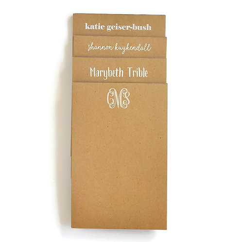 Large Kraft Note Pad