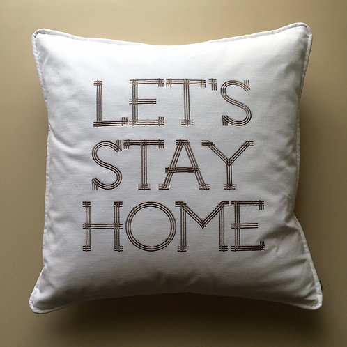 """Let's Stay Home"" Throw Pillow (Pillow Talk)"