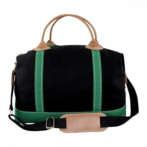Solid Black and Emerald Weekender