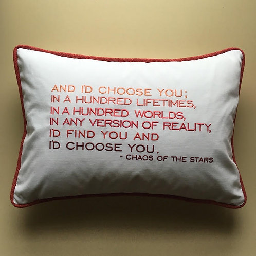 """Chaos of the Stars""  Throw Pillow"