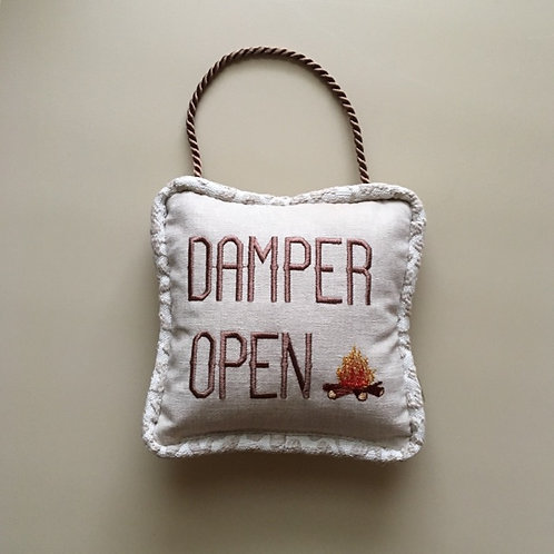 """Damper Open/ Damper Closed"" Door Pillow"