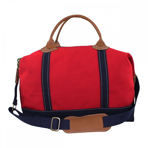 Solid Red and Navy Weekender