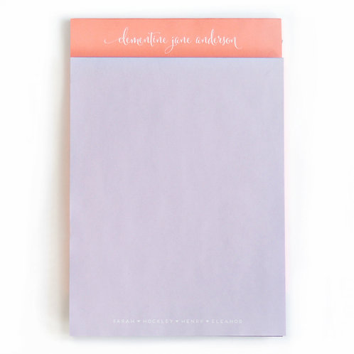 Letter Pastel Note Pad