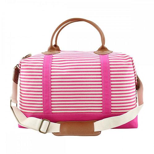 Hot Pink Stripes Weekender