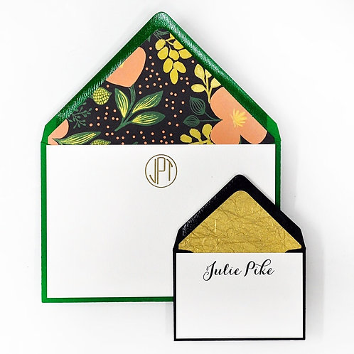 Garden Letterpress Note