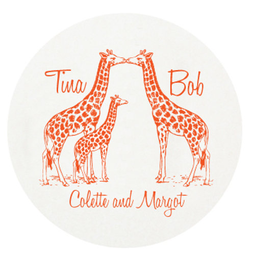 Giraffe Family Coasters