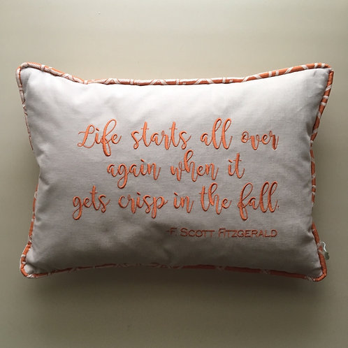 """Fitzgerald"" Quote Throw Pillow"