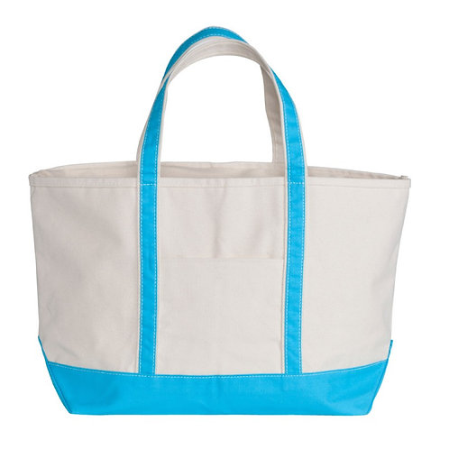 Turquoise Boat Tote