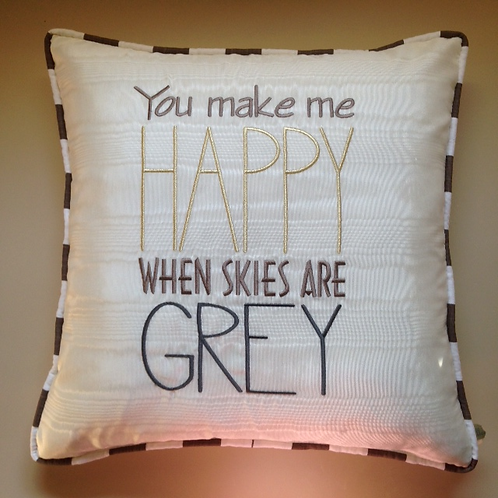 """You Make Me Happy"" Throw Pillow (Pillow Talk)"