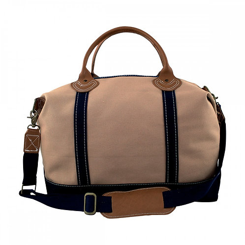 Solid Khaki and Navy Weekender