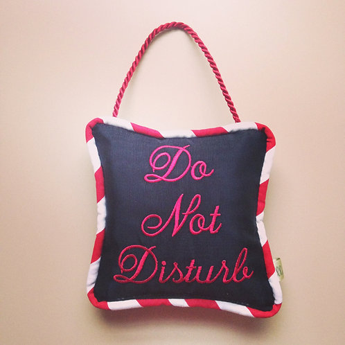 """Do Not Disturb"" Door Pillow (Pillow Talk)"