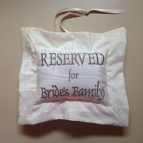 """""""Reserved For..."""" Wedding Signage (Pillow Talk)"""