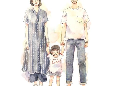 【Pick up】カテイトエ・やさしい人物画
