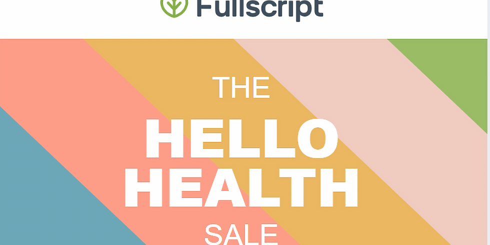 The Hello Health Sale on FullScript!