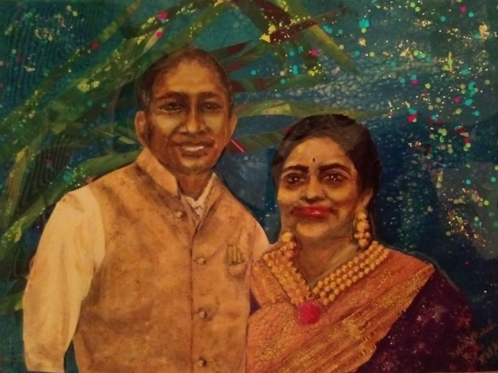 Dr. Rao and his wife