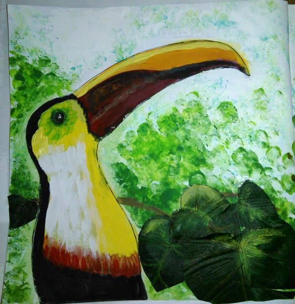 Piece 5 - _Two-Cans_ - Side 1 - Toucan