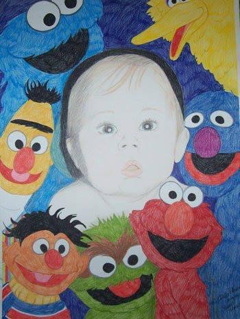 Baby Brad with Sesame Street (1994)
