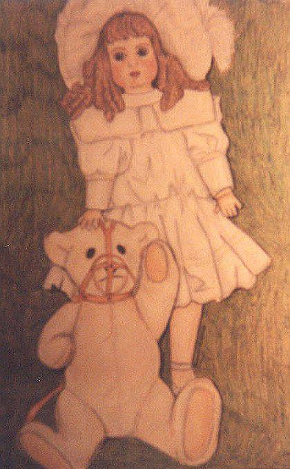 Porcelain Doll and Stein Bear (1980'