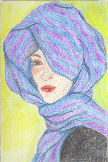 Colored Pencil and Pen