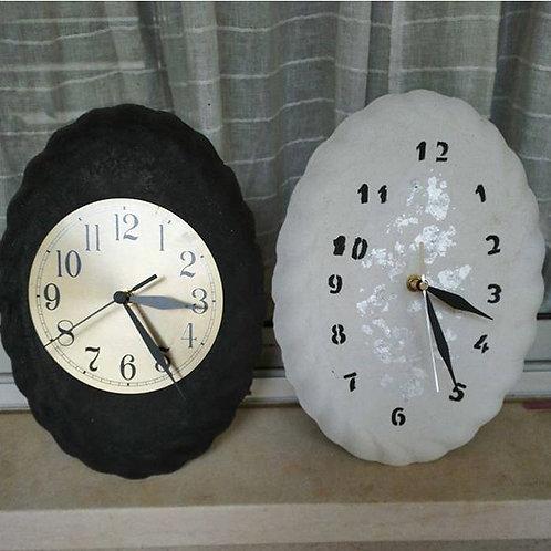 שעוני קיר שחור/לבן