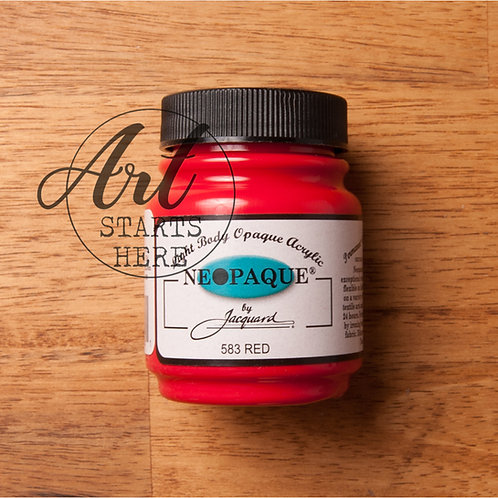 Jaquard Neopaque Red acrylic fabric paint